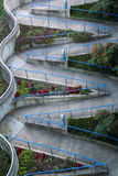 Geometric Walkway. Winding geometric walkway in a zig zag pattern Royalty Free Stock Photos