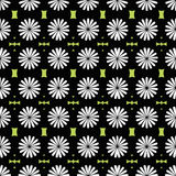 Geometric wallpaper with flower.Tiles moti, digital paper for te Royalty Free Stock Photography
