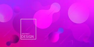Geometric wallpaper. Fluid gradient shapes composition. stock illustration