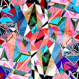 Abstract watercolor background polygon Royalty Free Stock Photo