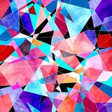Abstract watercolor background polygon Stock Photography