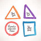 Geometric watercolor frame Royalty Free Stock Image