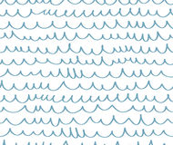 Geometric wave seamless pattern background. Royalty Free Stock Photo