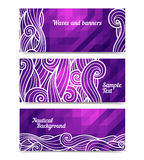 Geometric waves banners Stock Photos