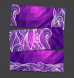 Geometric waves banners Stock Photos