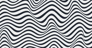 Geometric wavy background. Creative wavy geometric wallpaper. Trendy abstract background. Eps10 stock illustration