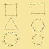Geometric Wavy Frames Royalty Free Stock Photo