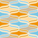 Geometric wavy lines pattern Royalty Free Stock Photo