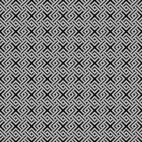Geometric weave cross squares seamless pattern. Stock Images