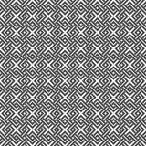 Geometric weave cross squares seamless pattern. Stock Image