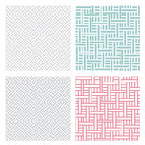 Geometric weave puzzle pattern in four color Royalty Free Stock Images