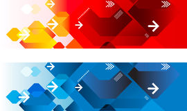 Geometric web headers Royalty Free Stock Image