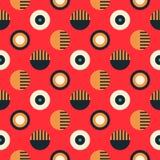 Geometric wheels symmetry seamless pattern. Autentic design for textile, print or digital stock illustration