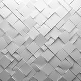 Geometric white abstract polygons, as tile wall Royalty Free Stock Photo