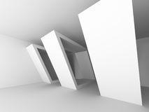 Geometric White Architecture Modern Design Background Stock Images