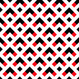 Geometric White Black Red Arrow Pattern Stock Photography