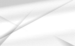 Geometric white and gray color. Halftone geometric white and gray color background, vector illustration. Decorative template web layout or poster, banner and for Stock Photos