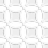 Geometric white and gray pattern with pointy squares. Abstract 3d seamless background. Geometric white and gray pattern with pointy squares and cut out of paper royalty free illustration