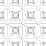 Geometric white and gray pattern with squares. Abstract 3d seamless background. Geometric white and gray pattern with squares and cut out of paper effect vector illustration