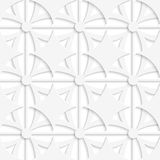 Geometric white pattern with layering. Abstract 3d seamless background. Geometric white pattern with layering and cut out of paper effect vector illustration