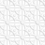 Geometric white pattern with layering and dots Stock Photography