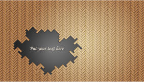 Geometric wicker pattern with hole Royalty Free Stock Photography
