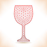 Geometric wineglass. Stock Photo