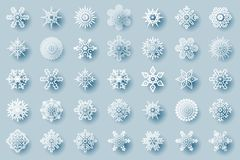 Geometric winter snowflakes abstract geometry cristmas new year icons design elements template vector illustration. Geometric winter snowflakes abstract cristmas Stock Photography