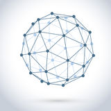 Geometric wire mesh sphere Royalty Free Stock Photo