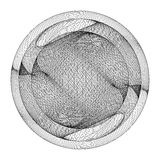 Geometric Wireframe Shape Vector Royalty Free Stock Image