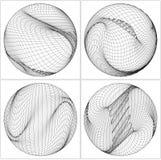 Geometric Wireframe Shape Vector Royalty Free Stock Photo