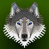 Geometric wolfs face Royalty Free Stock Photography