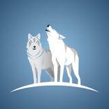 Geometric wolfs Stock Image