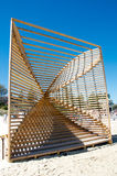 Geometric Wooden Sculpture Royalty Free Stock Image