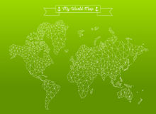 Geometric World Map Stock Images