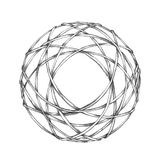 Geometric wreath from branches Royalty Free Stock Images