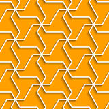 Geometric yellow background with outline extrude effect Royalty Free Stock Photos