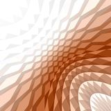 Geometrical abstract background. Brown geometrical abstract background pattern Stock Photography