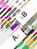 Geometrical abstract background with infographics Royalty Free Stock Photography
