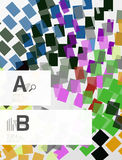 Geometrical abstract background with infographics Stock Photos