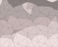 Geometrical abstract background, triangular grid, pale lilac triangles.  Stock Photos