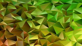 Geometrical abstract chaotic triangle pattern background - mosaic vector graphic. From colored triangles in green and brown tones vector illustration