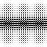 Geometrical abstract halftone dot pattern background. Vector illustration from black circles on white background Stock Photo