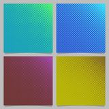 Geometrical abstract halftone dot pattern background set - squared brochure design from circles in varying sizes Royalty Free Stock Photography