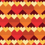 Geometrical abstract hearts seamless pattern Royalty Free Stock Photography