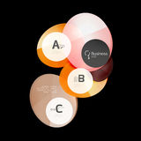 Geometrical abstract infographics banner template. Illustration Stock Photos