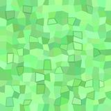 Geometrical abstract irregular polygon tile mosaic background - polygonal vector design from rectangles in green tones Royalty Free Stock Image
