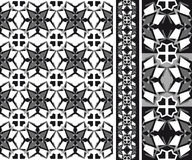 Geometrical abstract patten black and white Stock Photography