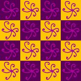 Geometrical abstract pattern. Violet and yellow royalty free illustration