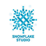 Geometrical abstract snowflake vector logo templates Royalty Free Stock Photography